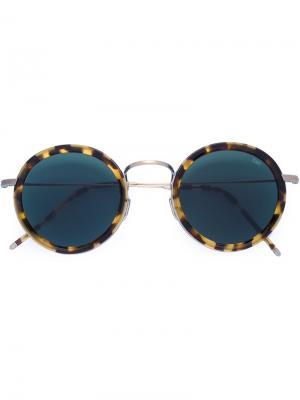 Солнцезащитные очки с круглой оправой Eyevan7285. Цвет: коричневый