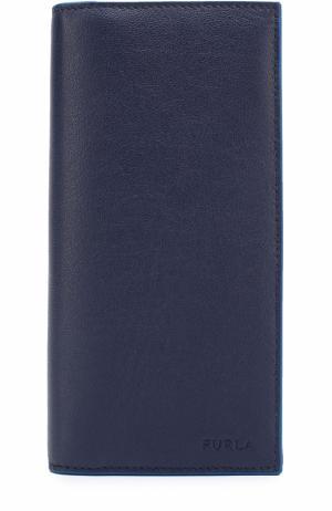 Кожаный бумажник с отделениями для кредитных карт и монет Furla. Цвет: темно-синий