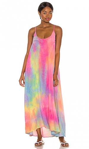 Макси платье tulum 9 Seed. Цвет: розовый