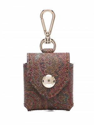 Мини-кошелек с принтом пейсли ETRO. Цвет: коричневый