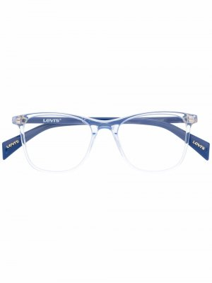 Levis очки в квадратной оправе Levi's. Цвет: синий