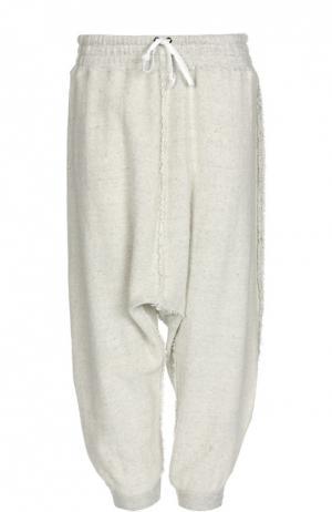 Укороченные брюки свободного кроя с эластичным поясом L.G.B.. Цвет: белый