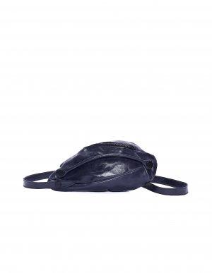 Кожаный клатч с асимметричными швами Leon Emanuel Blanck