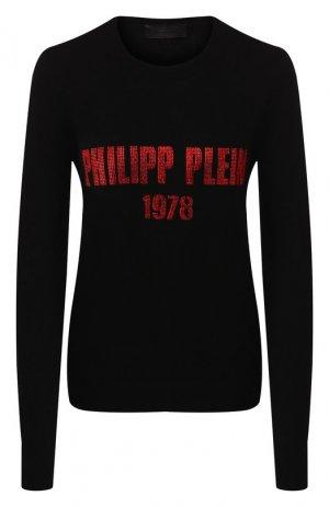 Кашемировый пуловер Philipp Plein. Цвет: черный