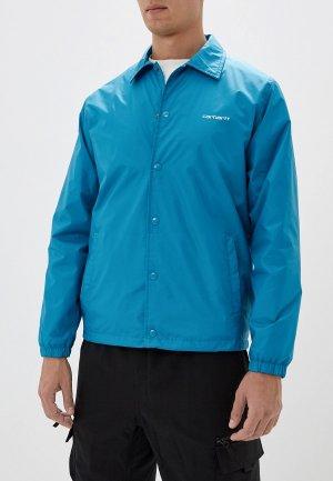 Куртка Carhartt. Цвет: голубой