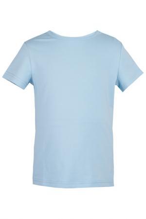 Футболка Button Blue. Цвет: голубой
