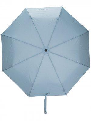 Складной зонт Ayr с телескопической ручкой Mackintosh. Цвет: синий
