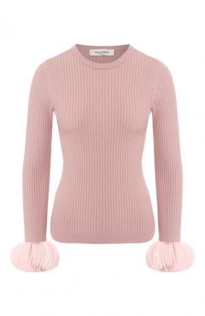 Пуловер из вискозы Valentino. Цвет: розовый