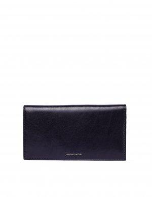 Черный кожаный кошелек Pocket Ugo Cacciatori