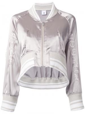 Укороченная куртка-бомбер Maison Mihara Yasuhiro. Цвет: серый