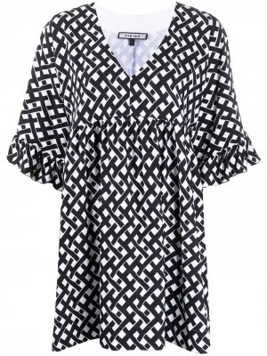 Платье мини с принтом Fisico. Цвет: черный