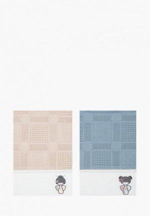 Набор полотенец кухонных Bellehome Kokeshi, 40х70 см. Цвет: разноцветный