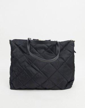Черная стеганая дорожная сумка Harri-Черный Accessorize
