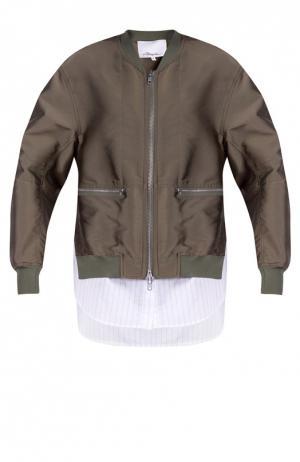 Куртка-бомбер 3.1 Phillip Lim. Цвет: зеленый