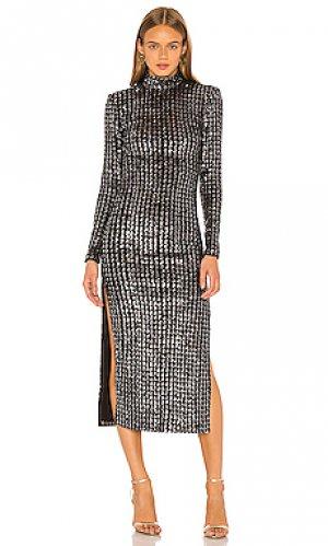 Платье миди Smythe. Цвет: metallic silver,black