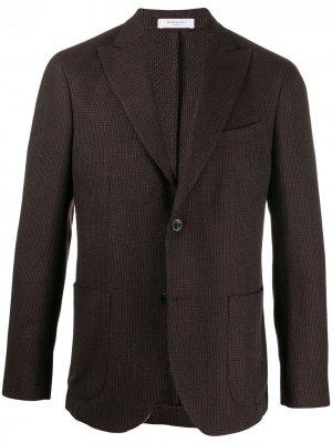 Однобортный пиджак стандартного кроя Boglioli. Цвет: черный