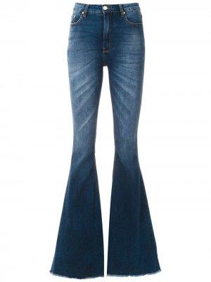 Расклешенные брюки Lívia Amapô. Цвет: синий