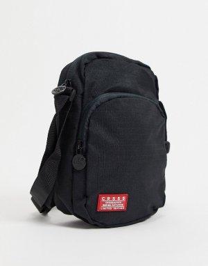 Дорожная сумка на ремне -Черный цвет Crosshatch