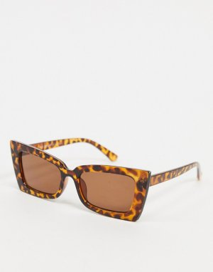 Черепаховые солнцезащитные очки в крупной оправе -Коричневый AJ Morgan