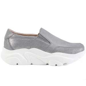 Слипоны Ekonika EN6906-06 metallic grey-20L. Цвет: серый