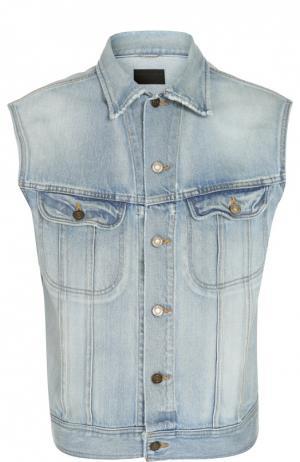 Жилет джинсовый Saint Laurent. Цвет: синий