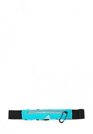 Пояс для бега adidas RUN BELT. Цвет: бирюзовый