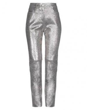 Повседневные брюки JITROIS. Цвет: серебристый