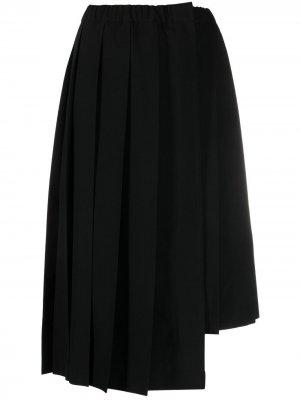 Плиссированная юбка миди асимметричного кроя Comme Des Garçons. Цвет: черный