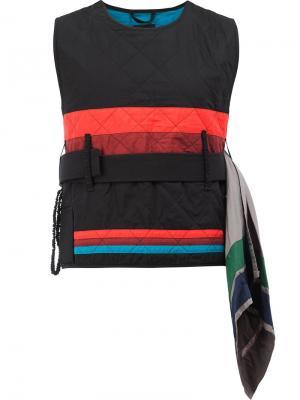 Diamond vest Craig Green. Цвет: чёрный