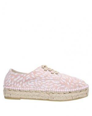 Низкие кеды и кроссовки ESPADRILLES. Цвет: розовый