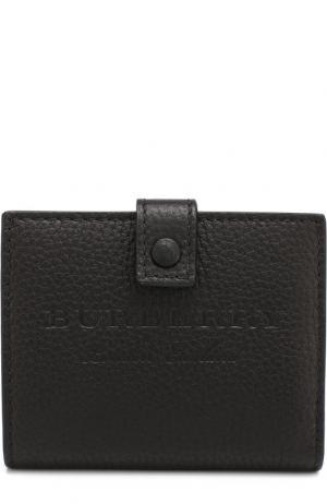 Кожаный кошелек на кнопке Burberry. Цвет: черный