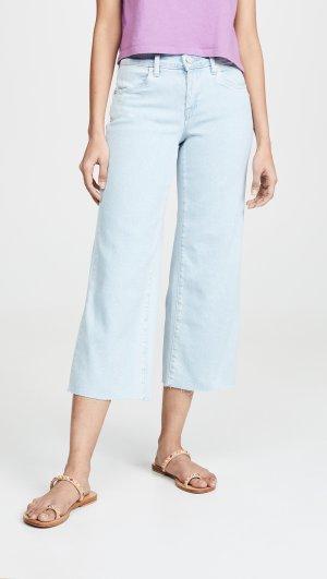 Cropped Wide Leg Jeans Blank Denim