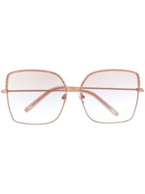 Декорированные солнцезащитные очки в квадратной оправе Matthew Williamson. Цвет: розовый
