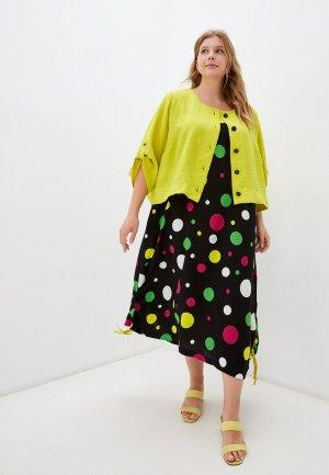 Платье и жакет Milanika. Цвет: разноцветный