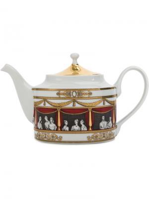 Чайник Don Giovanni Fornasetti. Цвет: белый