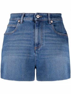 Джинсовые шорты с завышенной талией Valentino. Цвет: синий