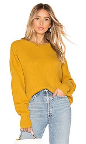 Пуловер omari Lovers + Friends. Цвет: горчичный