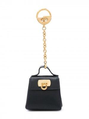 Ключница с декором Gancini Salvatore Ferragamo Pre-Owned. Цвет: черный