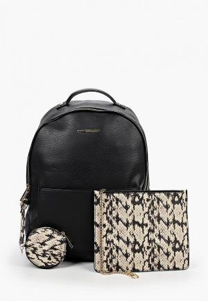 Комплект Aldo рюкзак, косметичка, кошелек. Цвет: разноцветный