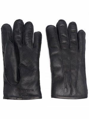 Перчатки с вышитым логотипом Parajumpers. Цвет: черный