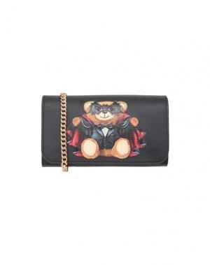 Бумажник MOSCHINO. Цвет: черный