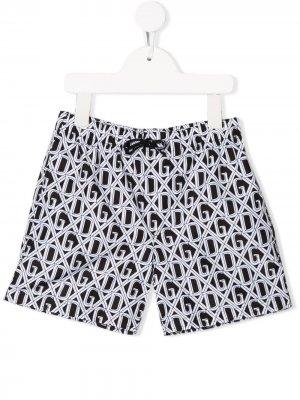 Плавки-шорты с принтом Dolce & Gabbana Kids. Цвет: черный