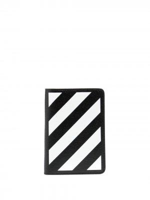 Обложка для паспорта с логотипом Off-White. Цвет: черный