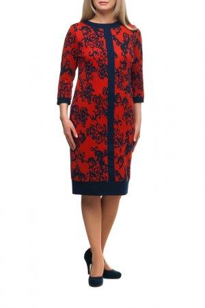 Платье OLSI. Цвет: красный