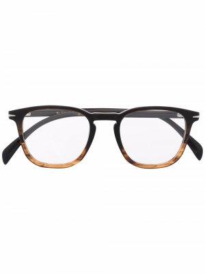 Очки в двухцветной круглой оправе Eyewear by David Beckham. Цвет: черный