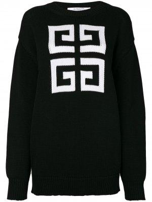Джемпер с узором Givenchy. Цвет: черный