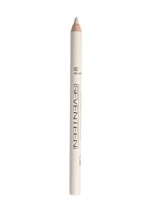 Карандаш для глаз Seventeen водостойкий т.51 Super Smooth W/P&Longstay Матовый белый. Цвет: белый