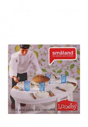 Набор игровой Lundby Аксессуары для домика. Смоланд. Столовая посуда.. Цвет: разноцветный