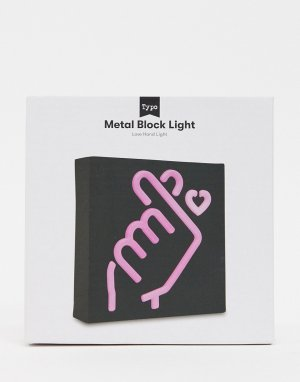Светильник с дизайном в форме руки Typo-Розовый TYPO