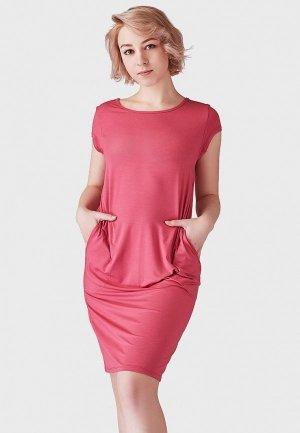 Платье домашнее Lowry Collection. Цвет: розовый